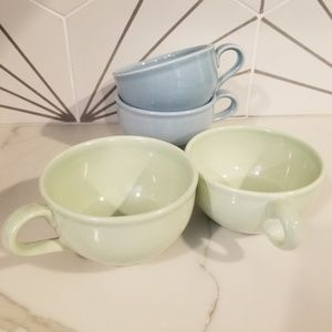 Vtg Russel Wright Iroquois MCM tea cups